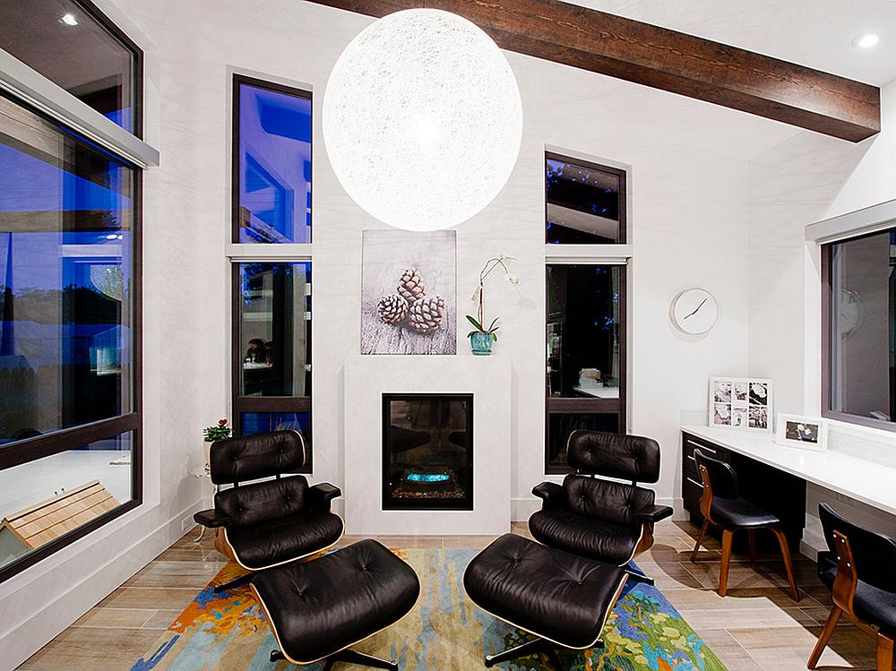 Moooi-Random-Light-draws-attention-to-the-wooden-ceiling-beams