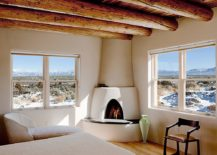 Round-wooden-ceiling-beams-for-the-lovely-Southwestern-style-bedroom-217x155