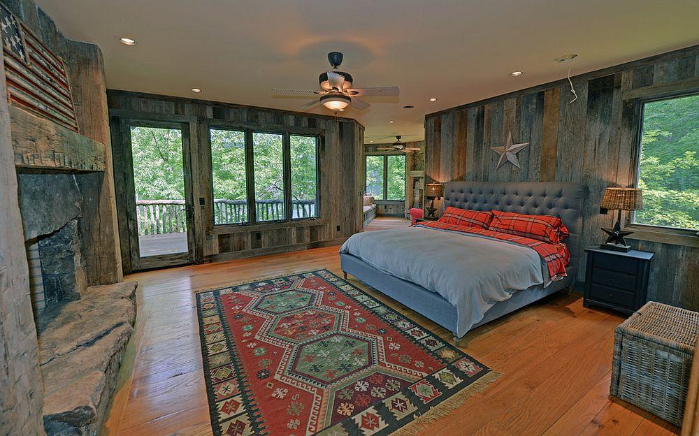 Rustic bedroom full of textural beauty