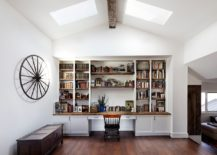 Spacious-home-office-in-white-with-a-ceiling-beam-in-wood-and-twin-skylights-217x155