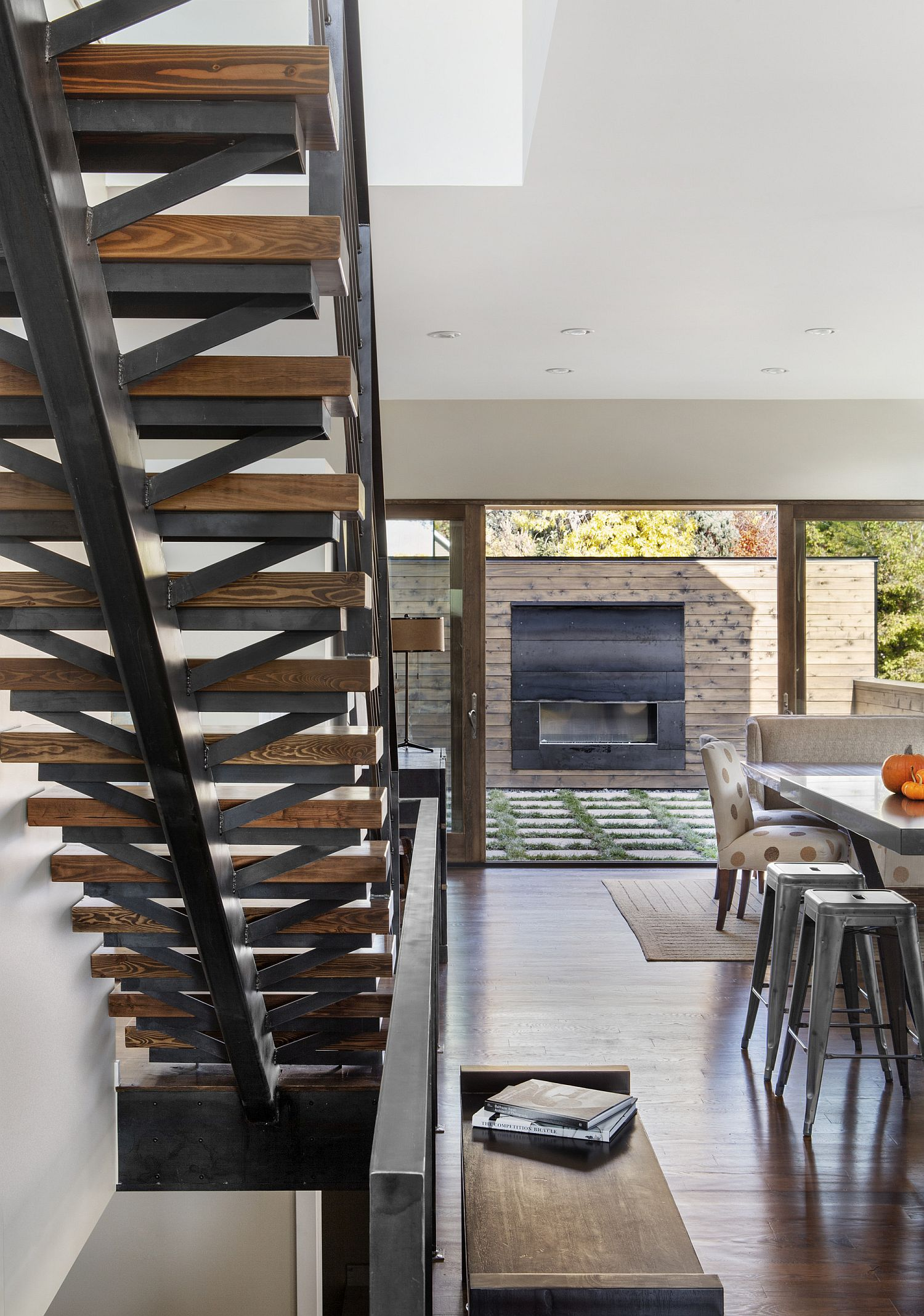 Staircase connects the different levels of the house with ease