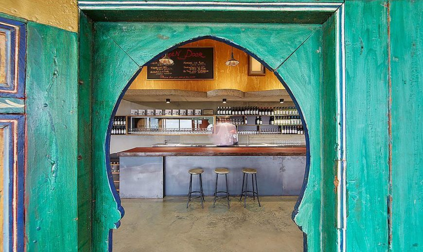 Boutique Winery with Custom Moroccan and Green Doors with a View of Ferguson Valley