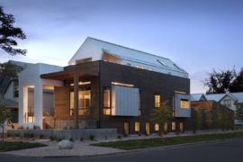 Elevated Modern Home in Western Red Cedar Beats Noise and Visual Congestion