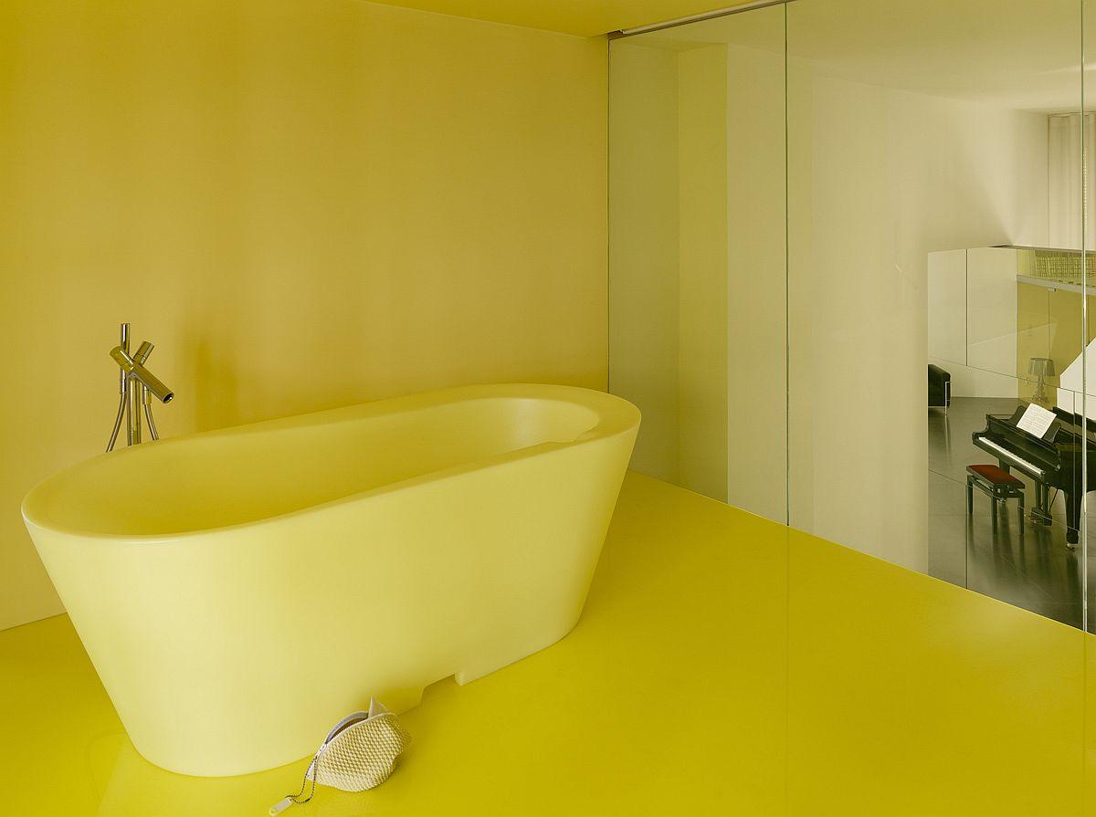 A world of yellow awaits at the smart Loft Geeraert