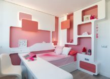 Awesome-pink-and-white-small-kids-room-with-space-savvy-shelving-217x155