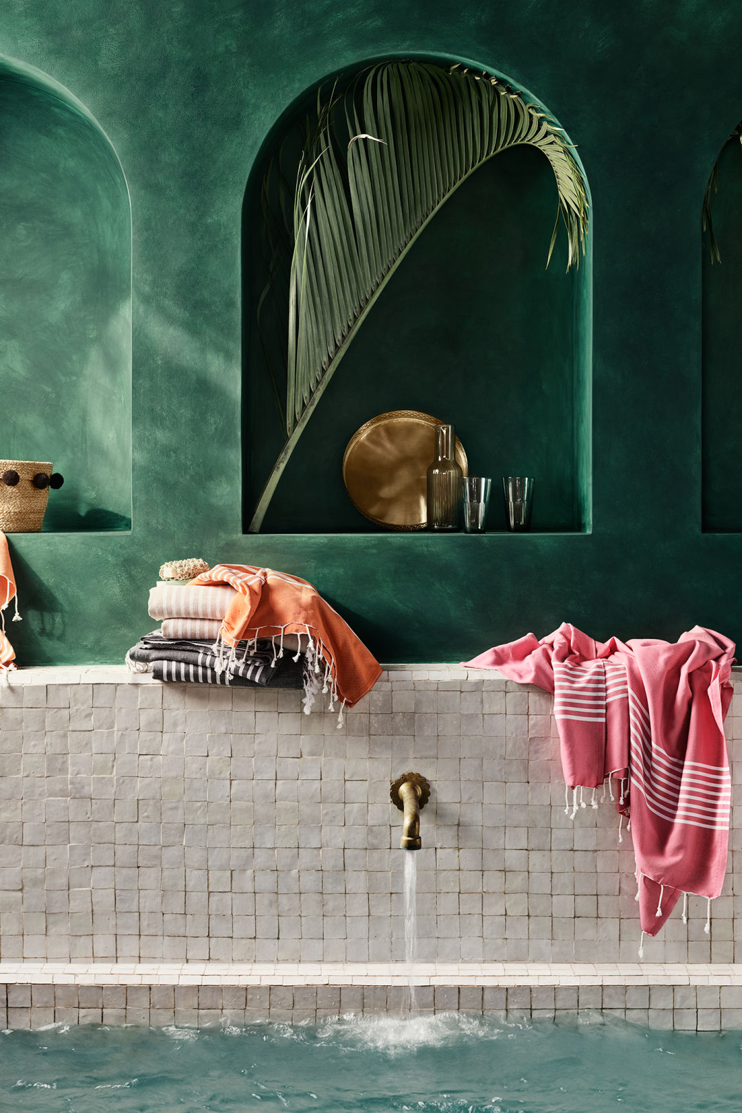 Colorful cotton beach towels from H&M Home