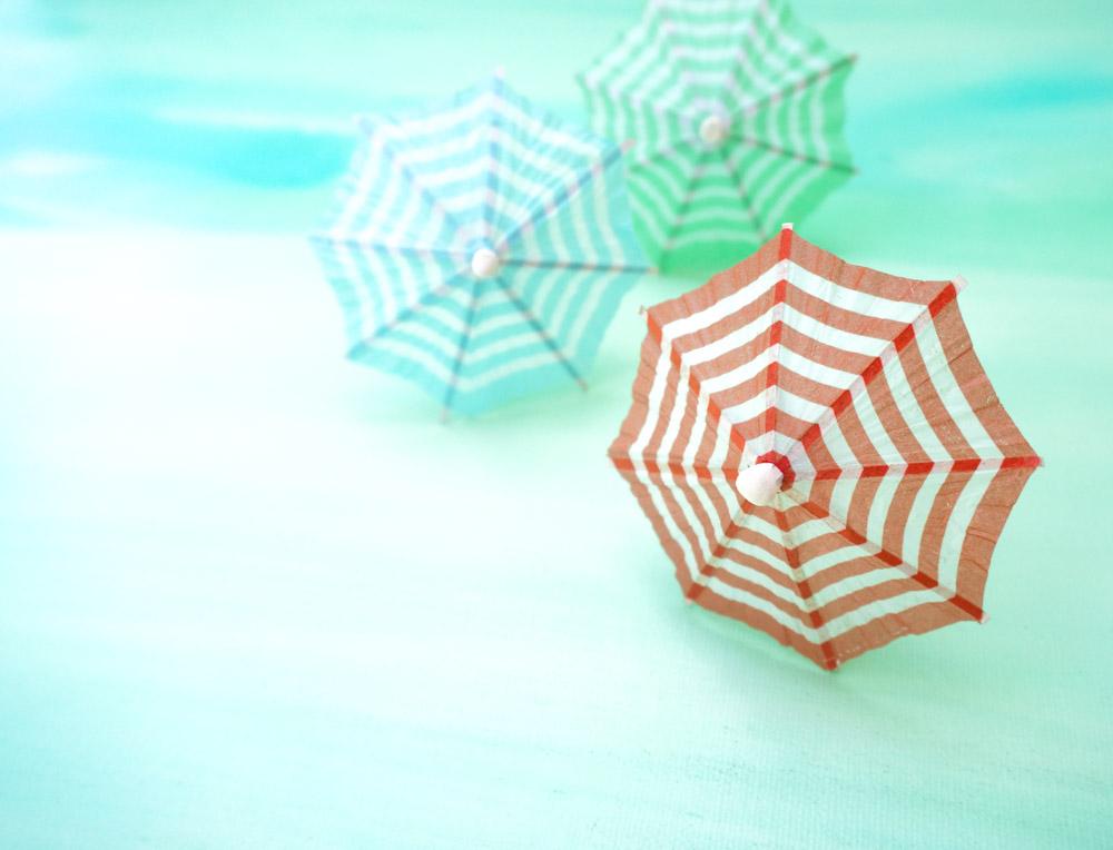 Colorful-striped-drink-umbrellas