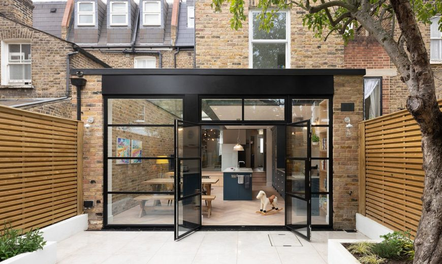 Revamped Terraced Home in South West London in Brick, Steel and Glass