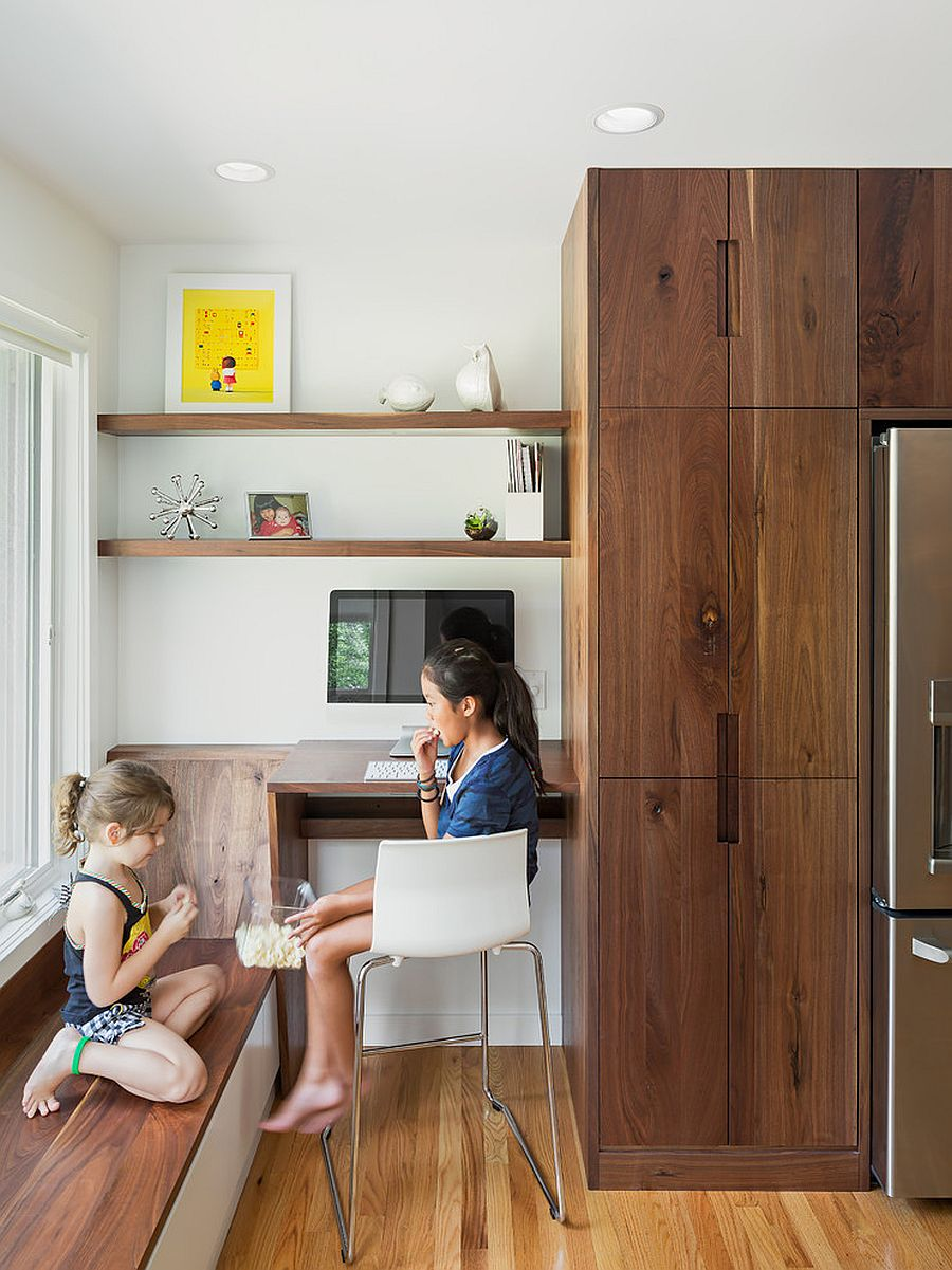 20 Fabulous Kitchen Office Ideas That Save Space In Style