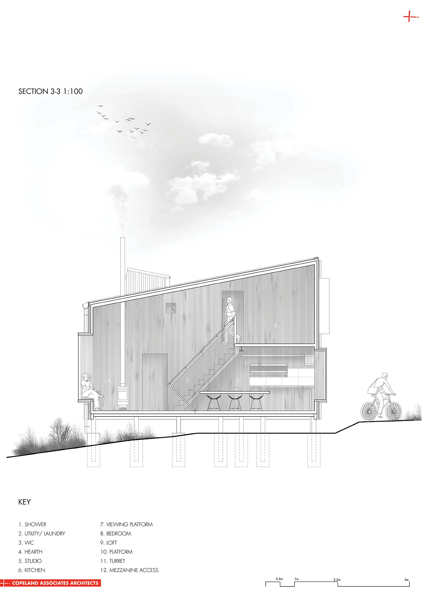 Design plan of AB Studio Cabin in Taihape, New Zealand
