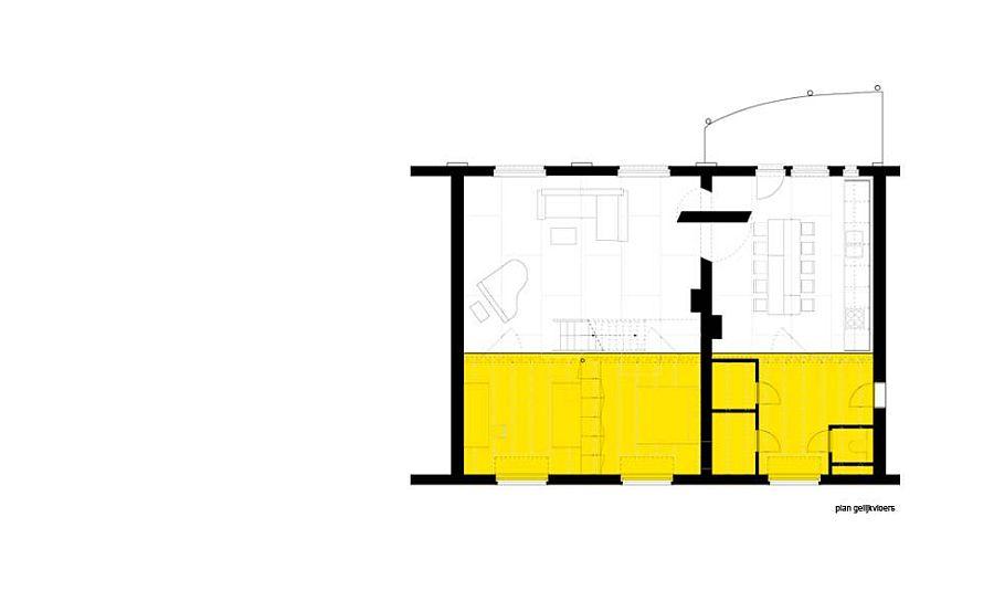 Design plan of Loft Geeraert in Brussels