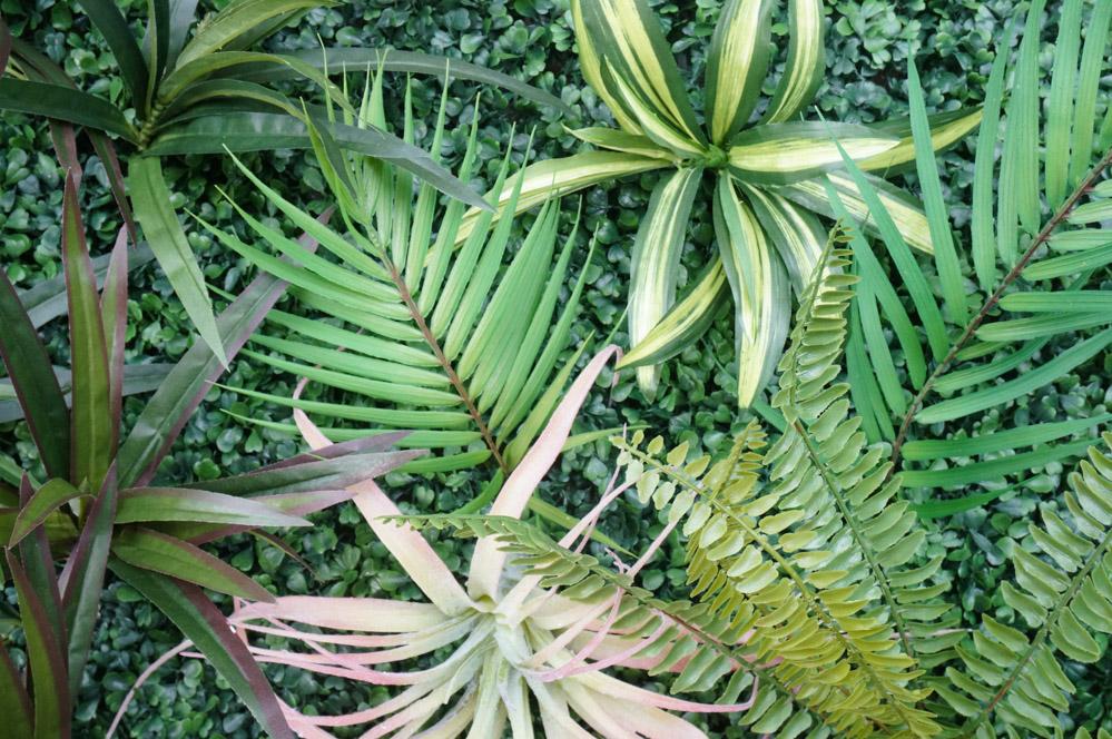 Faux-living-wall-greenery