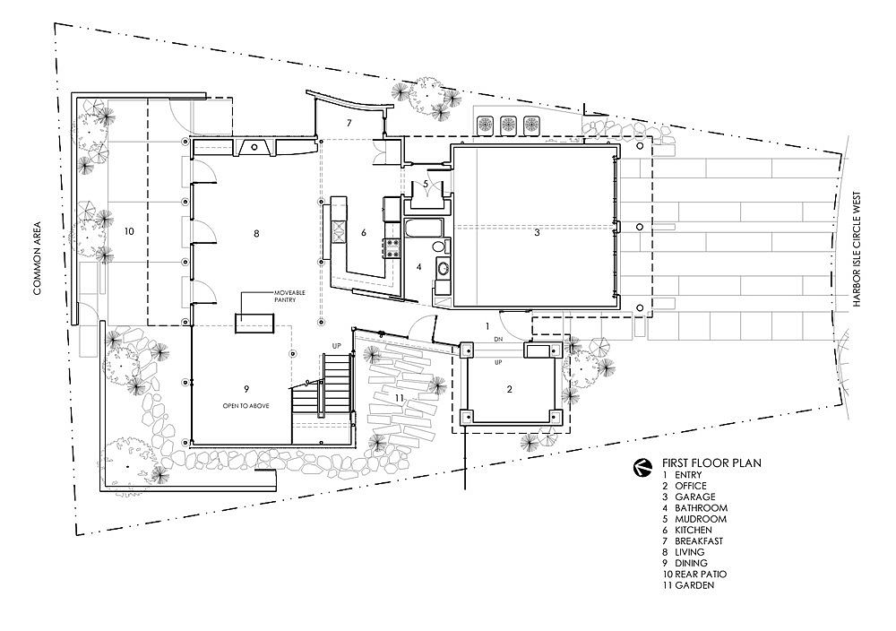 First floor design plan of Orange House