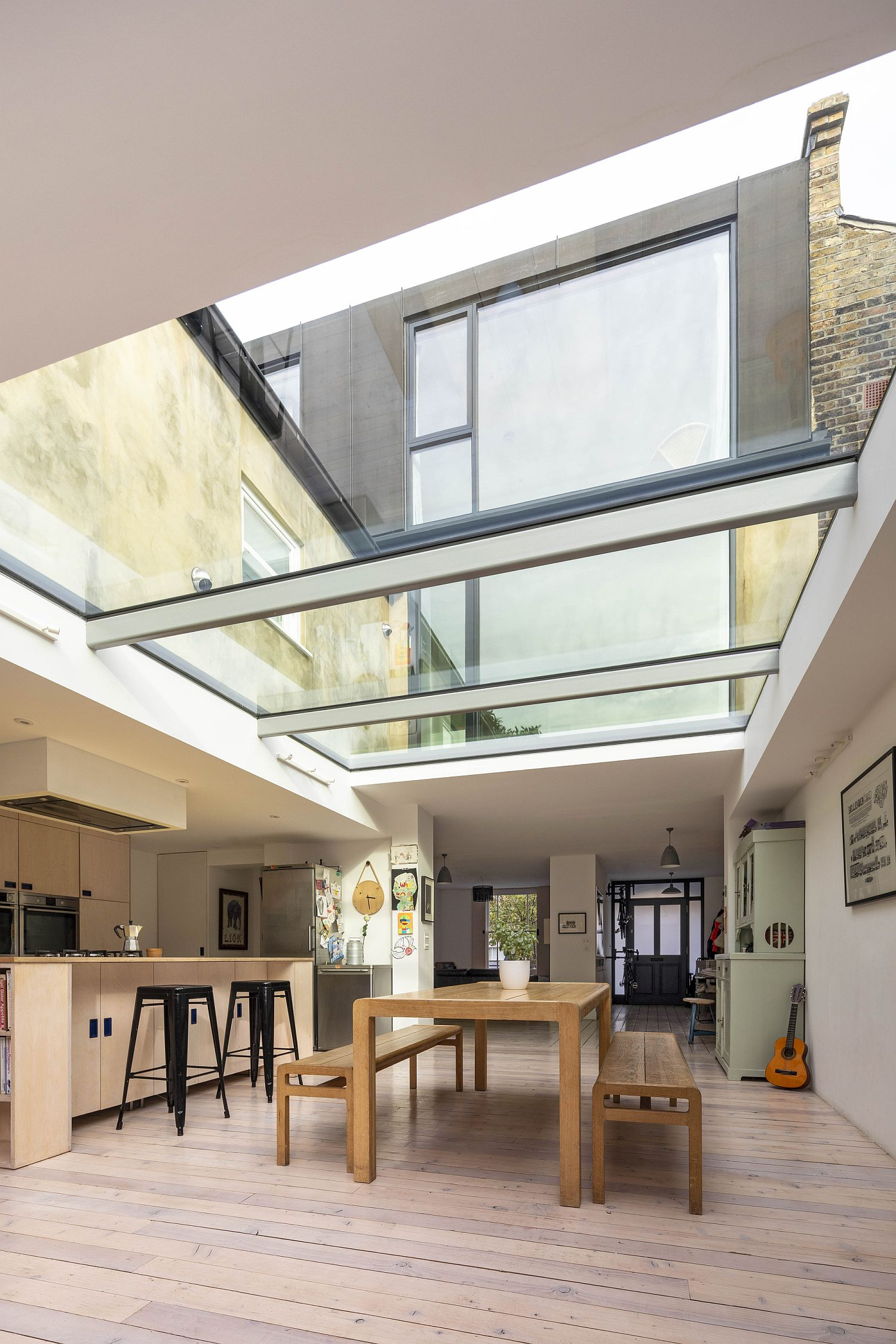 Glass ceilings completely alter the appeal of the Coach House