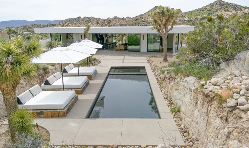 Glass, Boulders and a Desert Landscape that Enthralls: Dramatic Californian Home