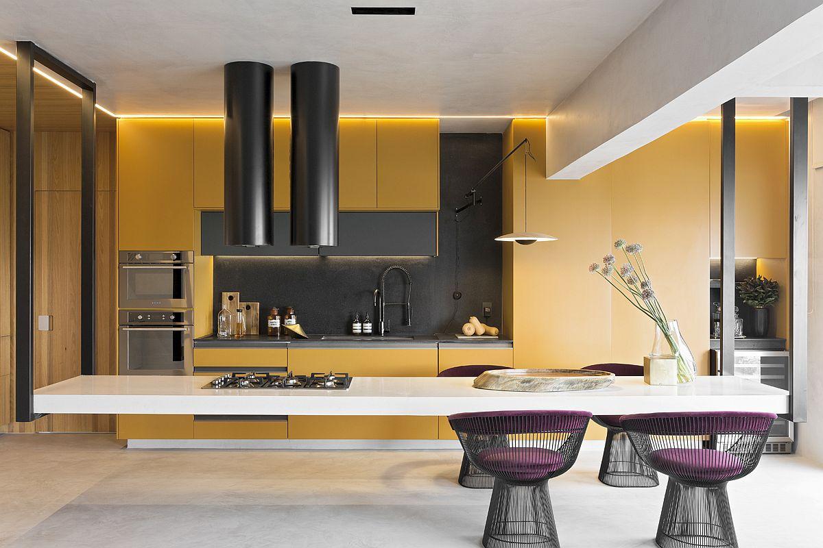 Amazing Hanging Island Shapes This Awesome Penthouse Kitchen ...