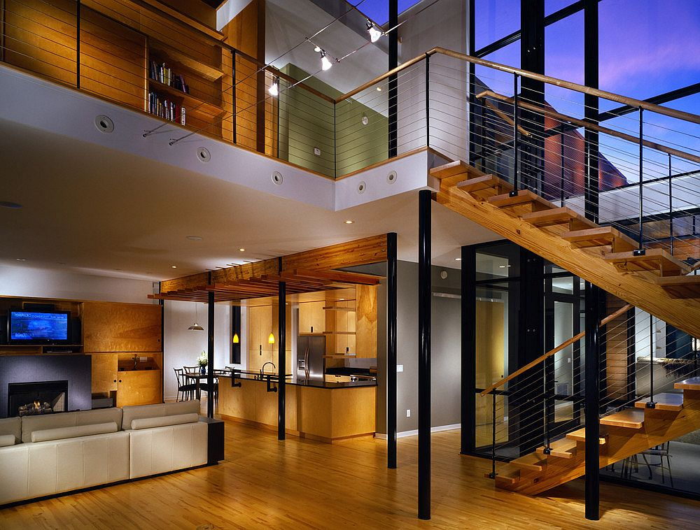 Modern industrial interior of the house in Memphis