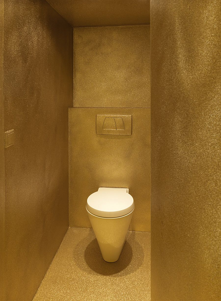 Small and contemporary powder room idea