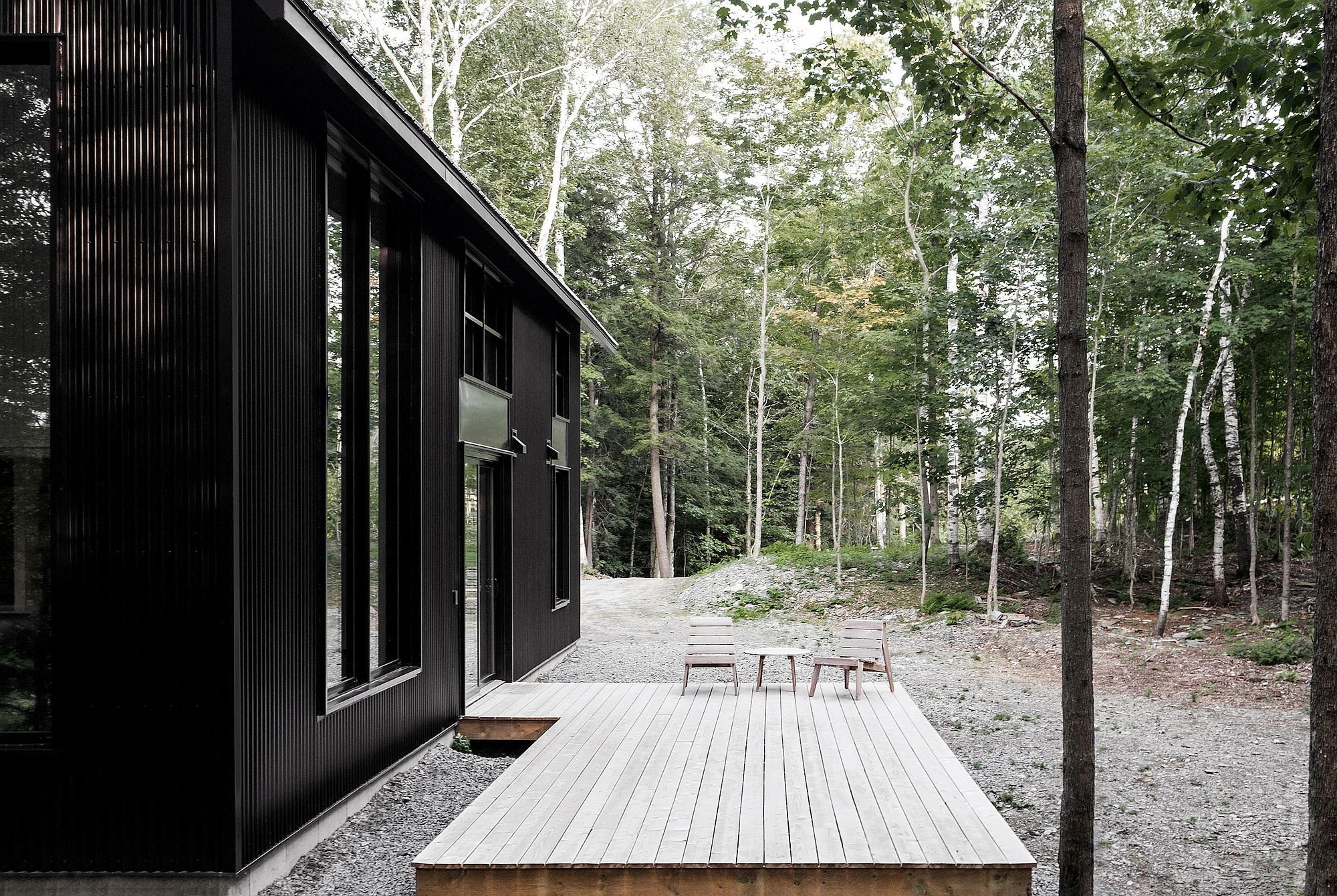 Small wooden deck outside for those who want to take in the freshness of the forest