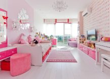 Smart-and-white-girls-bedroom-with-plenty-of-pink-217x155