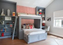 Smart-red-accent-wall-for-the-kids-bedroom-in-gray-217x155