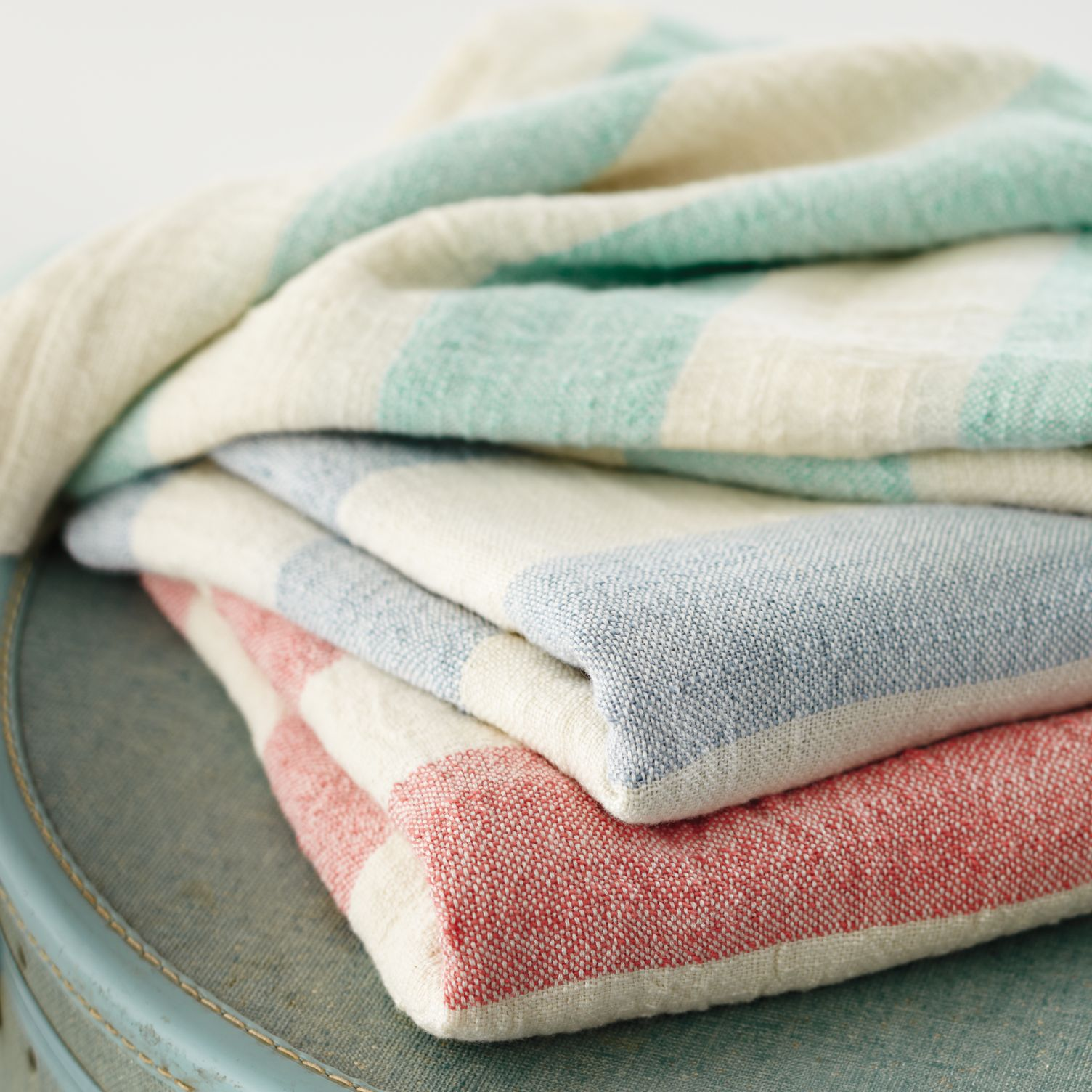 Striped baby blankets from Crate & Barrel