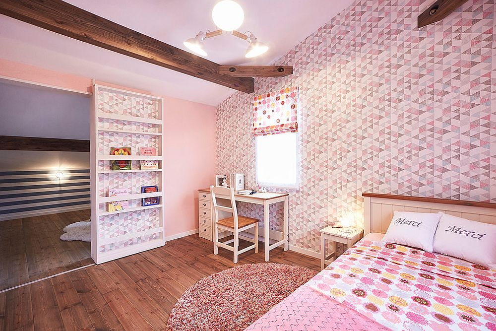 Stunning overdose of pink and pattern in the modern farmhouse kids' bedroom