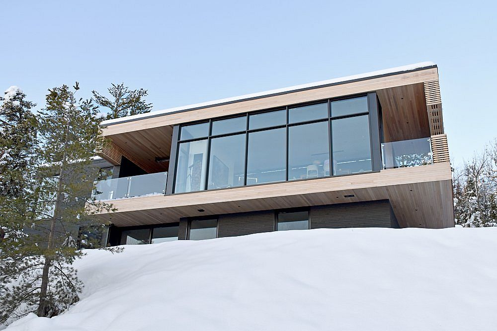 View of the rear of the Hillside home with views of St. Lawrence River