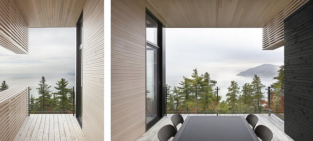 View of the river and the landscape beyond are perfectly framed from the house