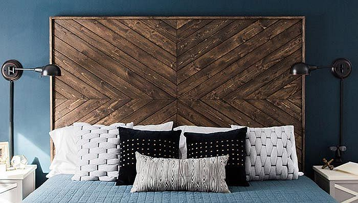 Add a bit of pattern to the bedroom with your DIY headboard