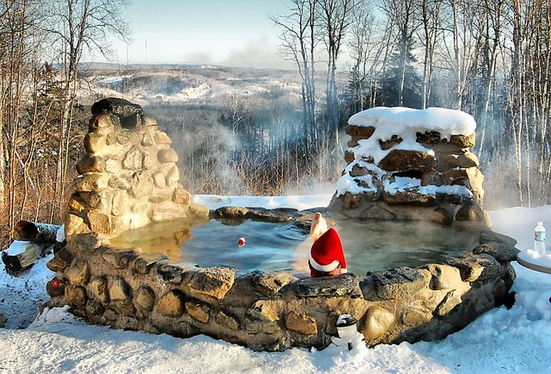 Amazing DIY hot tub in ground idea to beat the cold in homemade style!