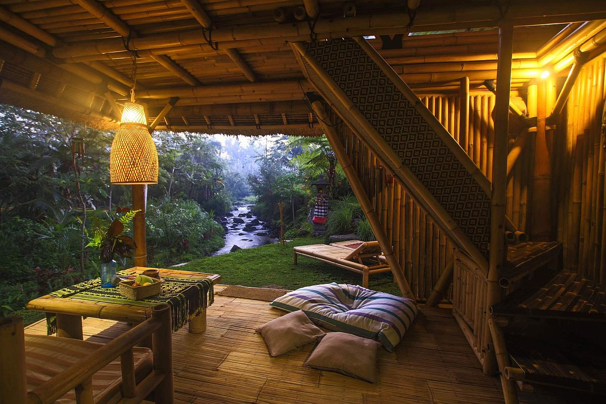 Amazing view of Bali jungles from the mesmerizing bamboo hut
