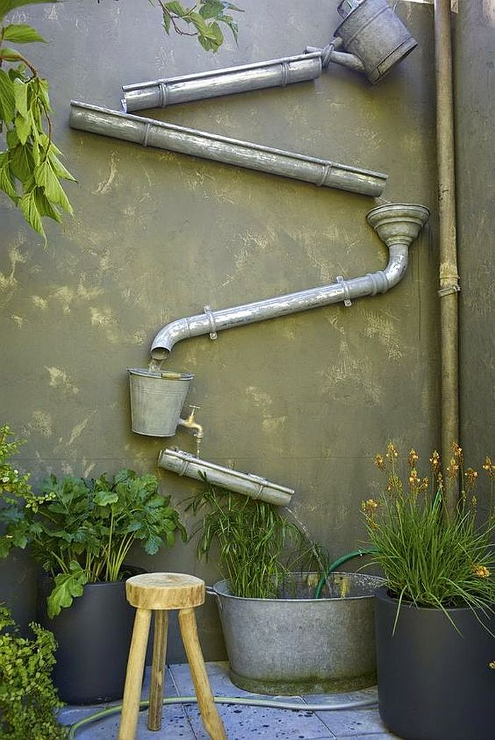 Awesome garden water feature is one that also saves space with its design