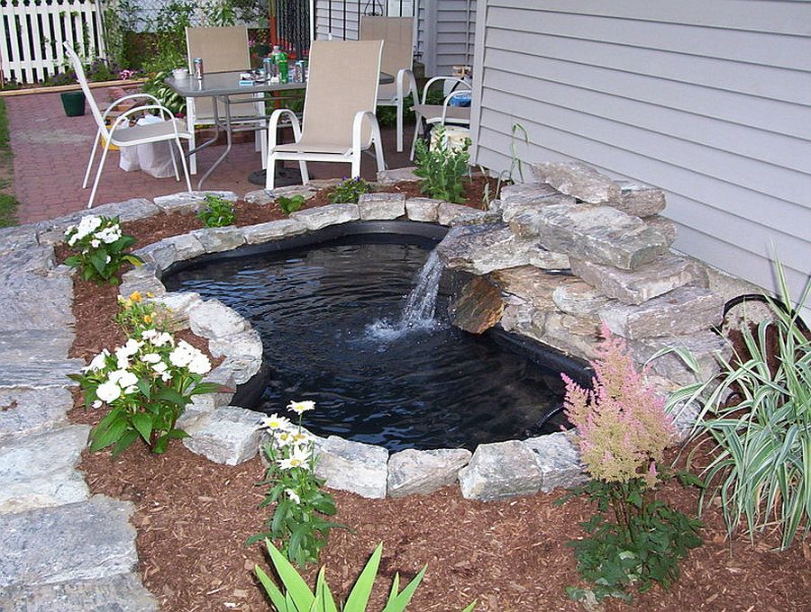 Backyard DIY pond on the cheap with a lovely waterfall included