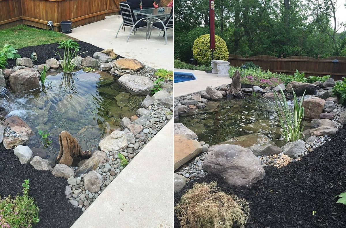 Backyard fish pond design that is easy to emulate