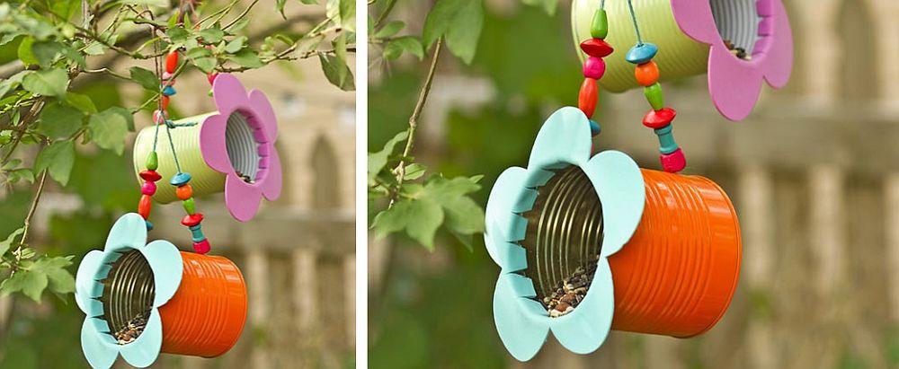 Beautiful-DIY-tin-can-flower-bird-feeder