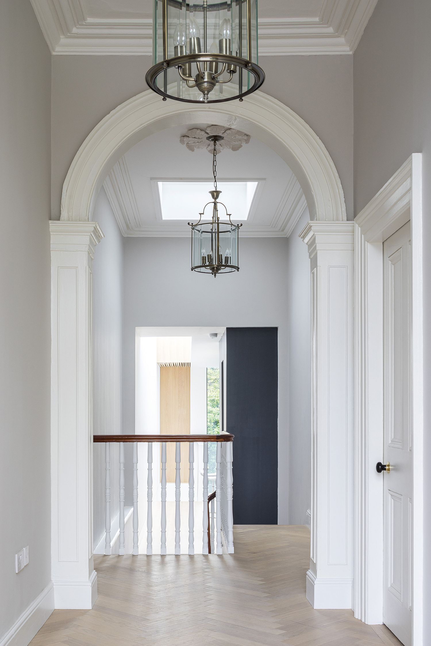 Classic interior of the revamped Victorian terrace house in Dublin