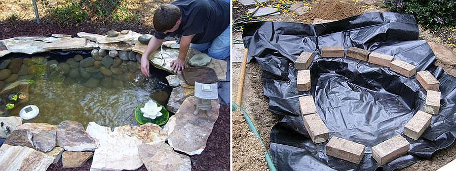 Cost-effective and easy DIY pond idea