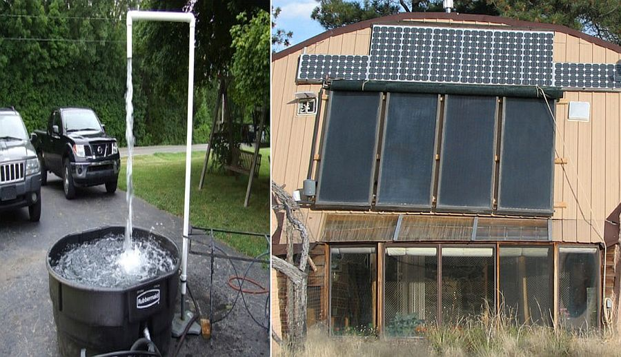Custom hot tub design with solar panels is powered using green energy