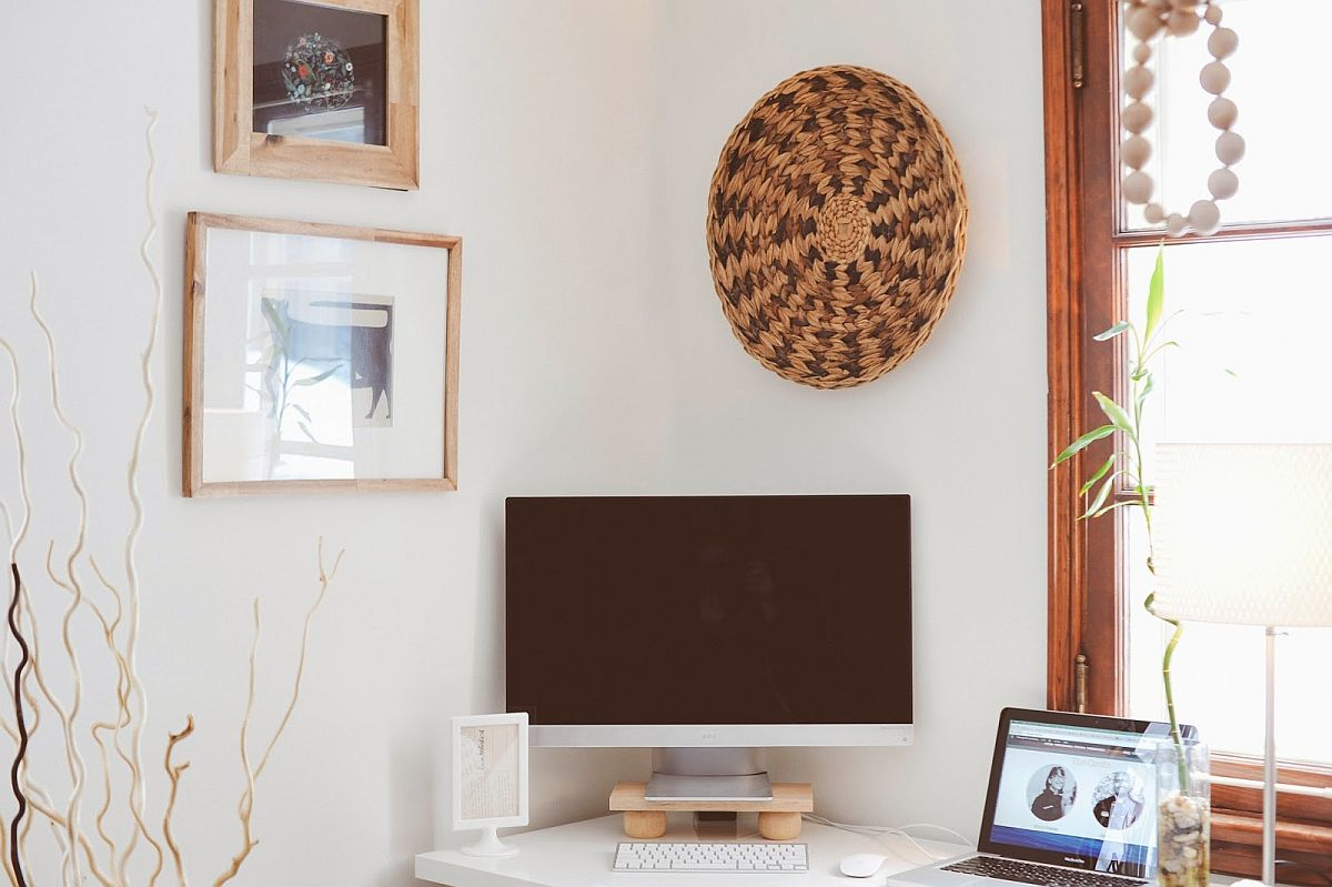 DIY Modern Monitor Stand in wood is super-easy to craft