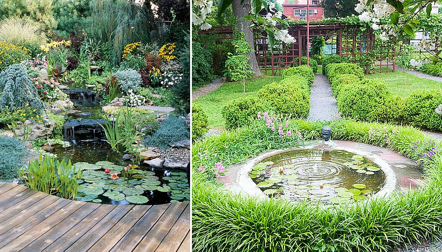 DIY backyard ponds with waterfall and water features do not come better than this!