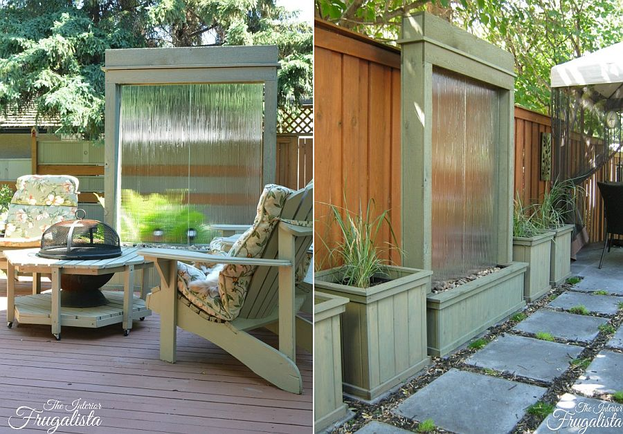 DIY water wall is a great contemporary addition to the modern garden