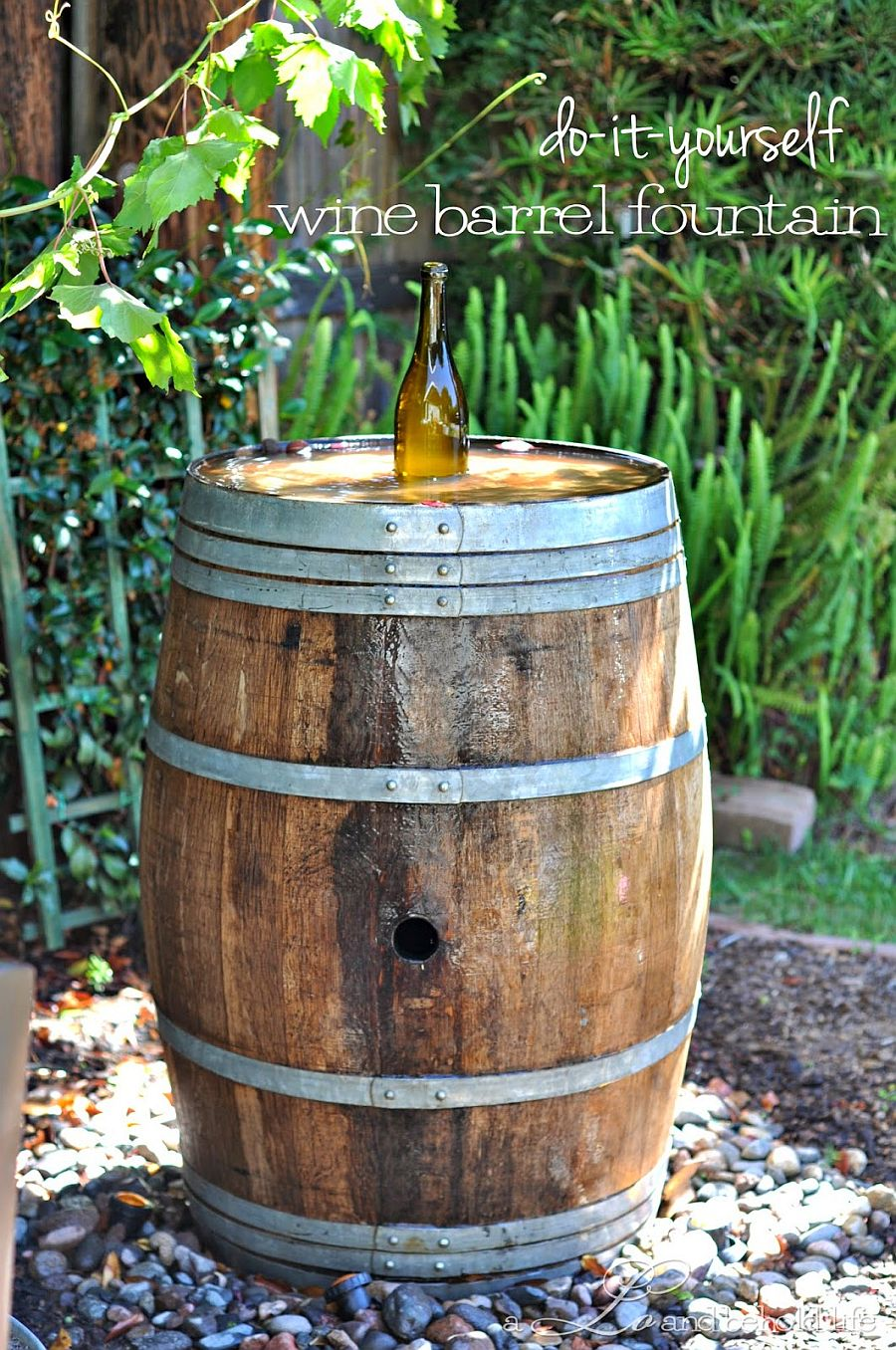 DIY wine barrel idea for those who love a bit of rustic