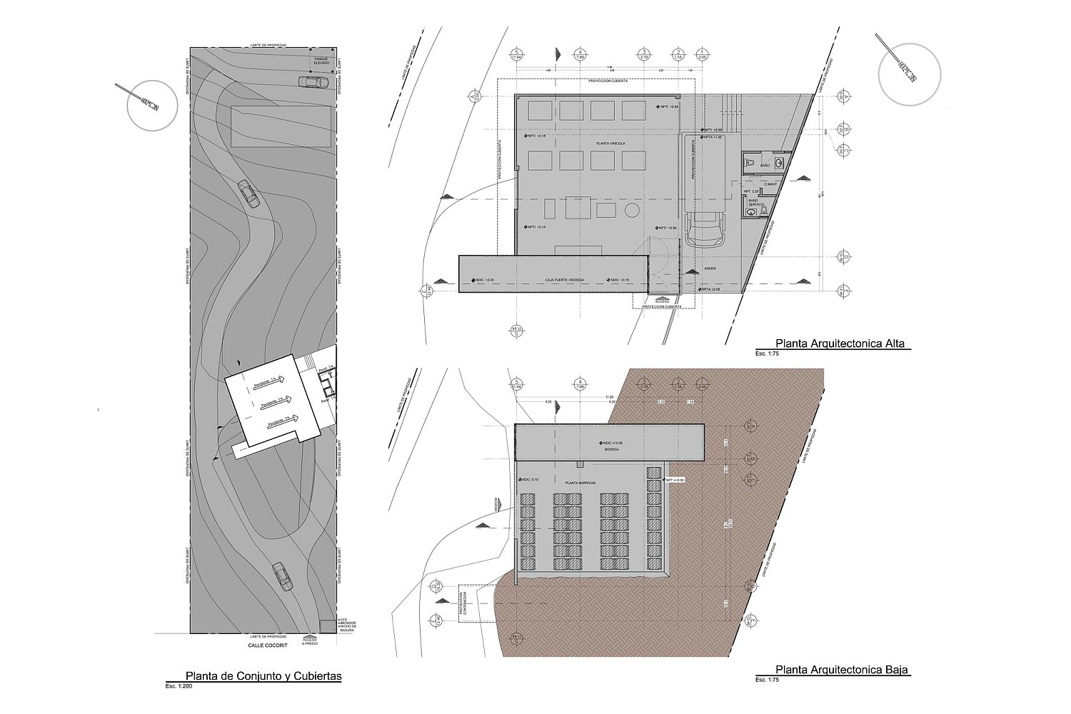 Design plan of modern Wine House in Mexico