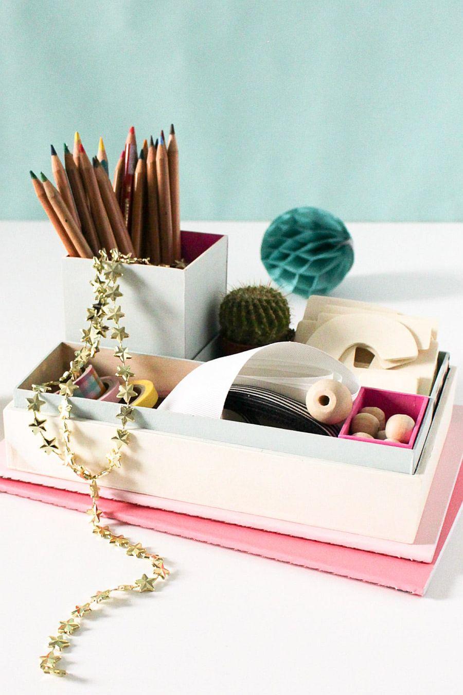 Easy-to-craft nesting DIY organizer idea