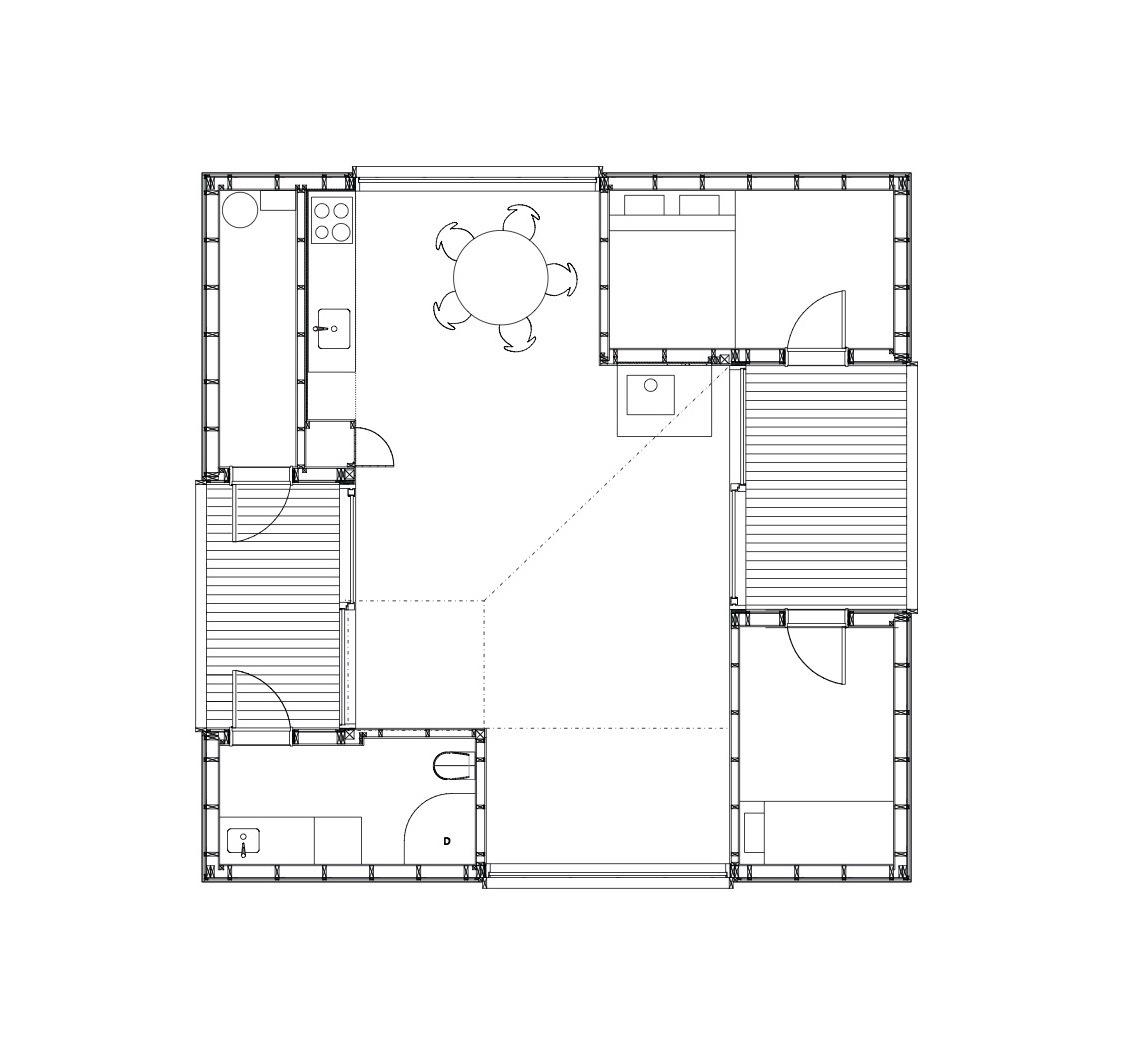 Floor plan of Summerhouse at Söderöra