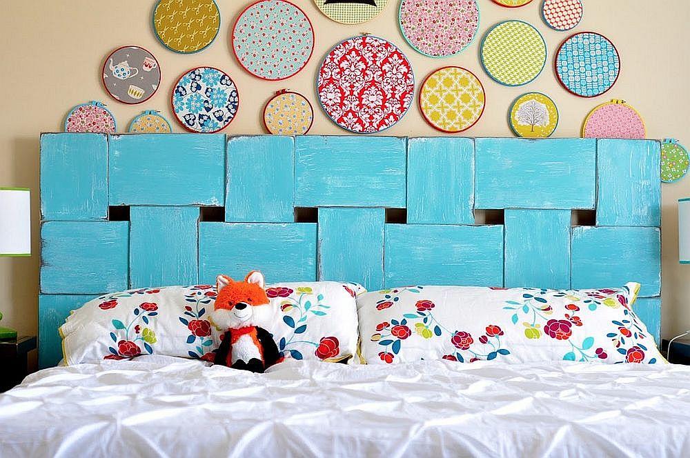 Fun-and-colorful-woven-headboard-idea