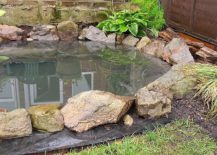 Garden-fish-pond-DIY-with-stones-and-greenery-all-around-217x155
