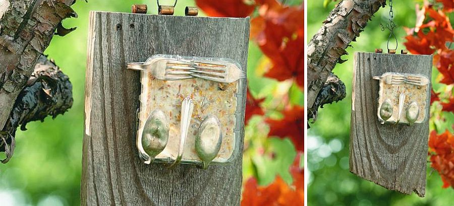 Gorgeous-homemade-bird-feeder-made-from-recycled-silverware