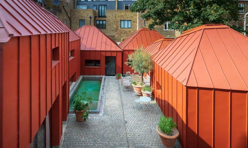Tin House: Metallic Orange Masterpiece of a House in London!
